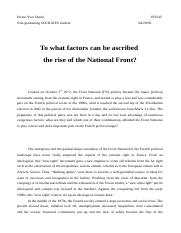 To what factors can be ascribed the rise of the FN