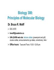Spring lecture s17 1 pdf - Biology 308 Principles of