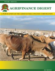 AGRIFINANCE DIGEST June 2017
