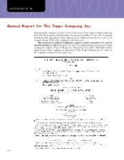 Appendix B; Annual Report for The Topps Company, Inc.