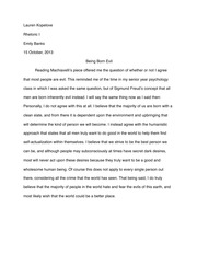 Rhetorical Analysis Of Modest Proposal Essay  Michalowski  Emma   Pages Rhetoric Being Born Evil Short Essay