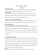 3-2 Final Project Milestone One Literature Worksheet