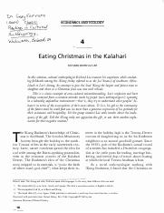 eating christmas in the kalahari writing Eating christmas in the kalahari this research paper eating christmas in the kalahari and other 64,000+ term papers, college essay examples and free essays are available now on reviewessayscom.