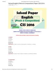 Solved English (Précis & Composition) Paper CSS 2016.pdf
