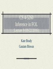 CS 4-5260_Lect9_ Inference with FOL