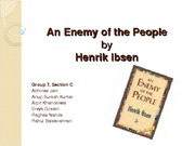 An Enemy of the People - Section C - Group 7