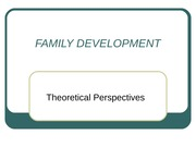 SPRING 2014 FAMILY DEVELOPMENT (Theoretical Perspectives)