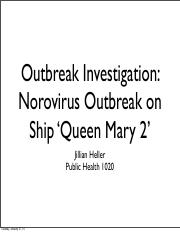 Outbreak Investigation Project