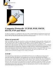 Computer Protocols- TCP,IP, UDP, POP, SMTP, HTTP, FTP, and More.html