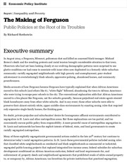 The Making of Ferguson: Public Policies at the Root of its Troubles | Economic Policy Institute