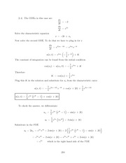 Differential Equations Lecture Work Solutions 234