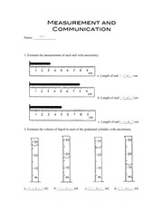 Measurement and Communication Assignment