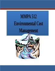 MMPA 512 Environmental Cost Management  T2 2016