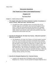 FASH455- Travels of a T-Shirt Questions Ch.5-8