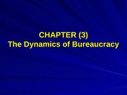 Bus 401 (ch.3) Dynamics of Bureaucracy
