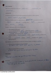 Science 10: Heat Transfer Worksheet