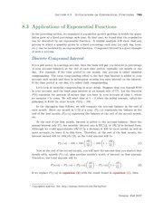 Section 3: Applications of Exponential Functions