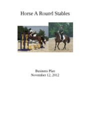 Horse A Round Stables Business Plan