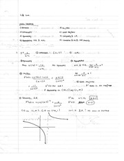 Chapter 4.4 Class Notes Concavity and Inflection Points