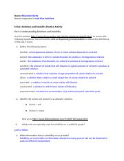Phy Sci M14L1 Solubility Practice Activity for Physical Science