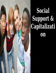 Special Topic - Social Support and Capitalization.ppt