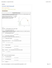 MP20- Projectile Motion