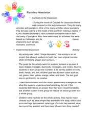 Families Newsletter, The Importance of Play