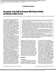 Association of the Built Environment With Physical Activity and Obesity in Older Persons