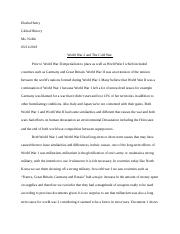 Thematic Essay: Conflict- World War ll Task 2.docx