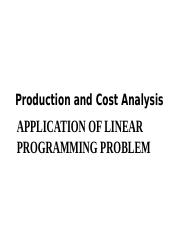 1 Linear Programming Problems