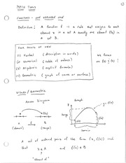 ECON 6500 Review of Mathematic Tools used in Managerial Economics Notes