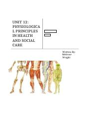 Physiological Principles for Health and Social Care