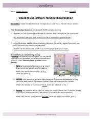 Mineral Identification Gizmo   ExploreLearning.pdf ...