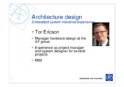 Architecture design - embedded systems industrial experience_TorEriksson