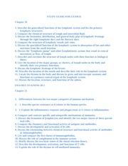 Study Guide for Exam II