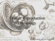 Lecture 23 Reproductive Physiology II