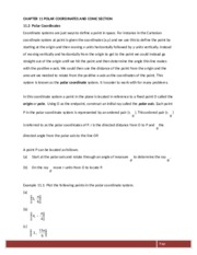 New Chapter 11 Polar Coordinates and Conic Sections(1)
