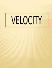 Velocity-and-Others.pptx