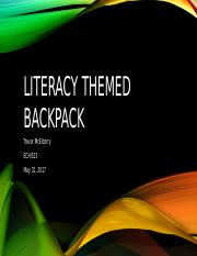 Literacy Themed Backpack.pptx