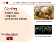 Cloning Method CS 2114