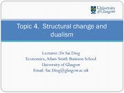 Structural Change and Dualism Lecture Slides