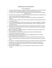 Sample Response Essay Thesis Statements(1) (1)