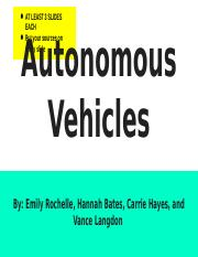 Autonomous Vehicles.pptx
