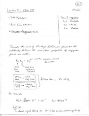 Lecture notes 31