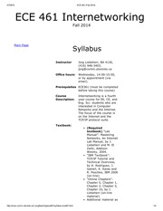 ECE 461 Fall Official Syllabus 2014
