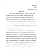 Fiction Essay 1