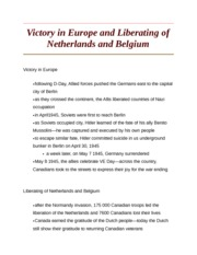 Victory in Europe and Liberating of Netherlands and Belgium