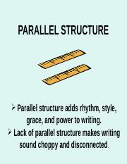 new PARALLEL STRUCTURE