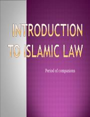10-Islamic_Law_1_period_of_companions