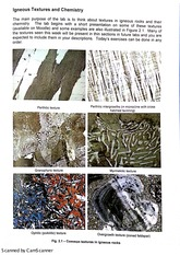 Igneous Textures and Chemistry Lab Exercise